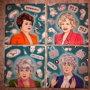GOLDEN GIRLS ceramic tile coaster set
